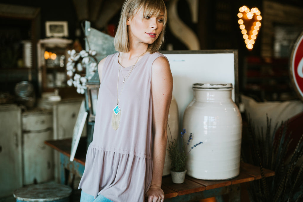 The Luna Top // Blush