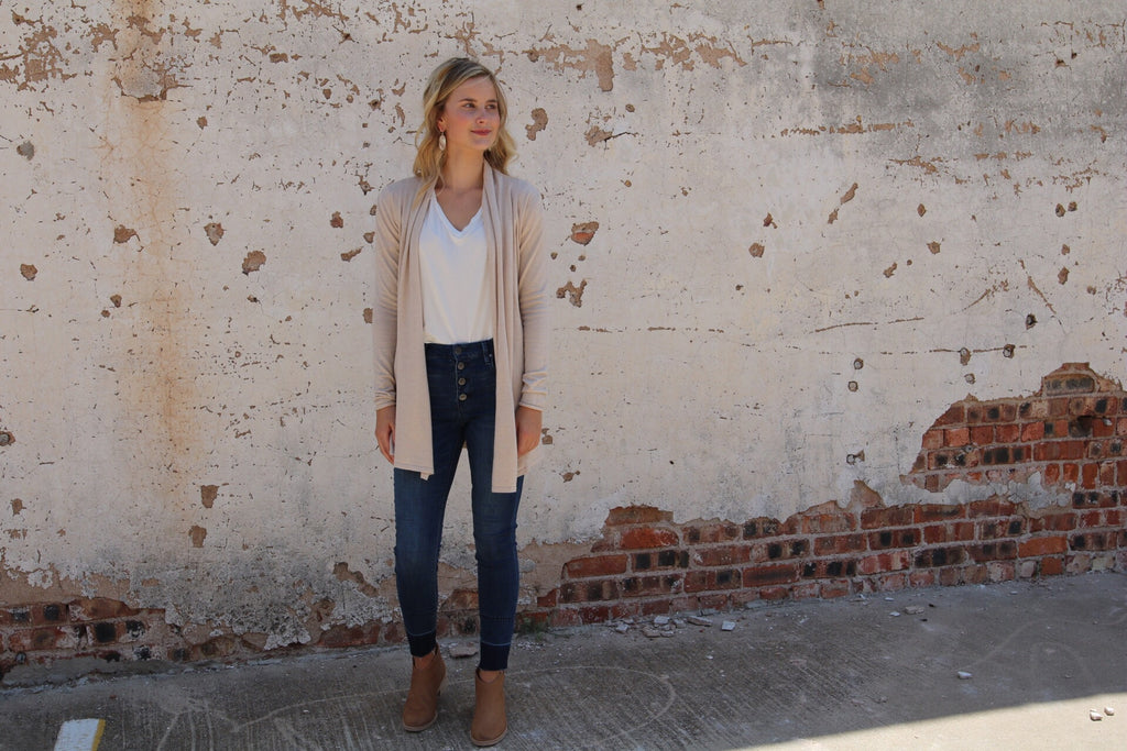 The Boyer Cardigan // Light Taupe