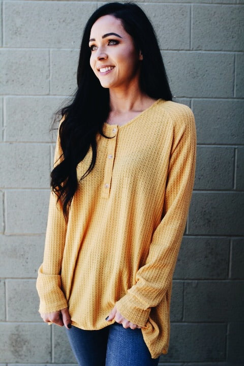 The Brooks Top // Mustard