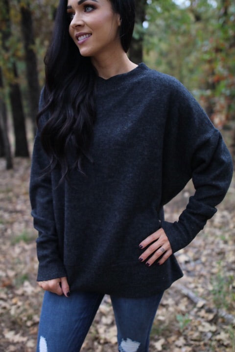 The Emmie Pullover // Charcoal