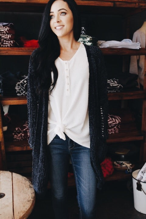 The Ruby Cardigan // Navy