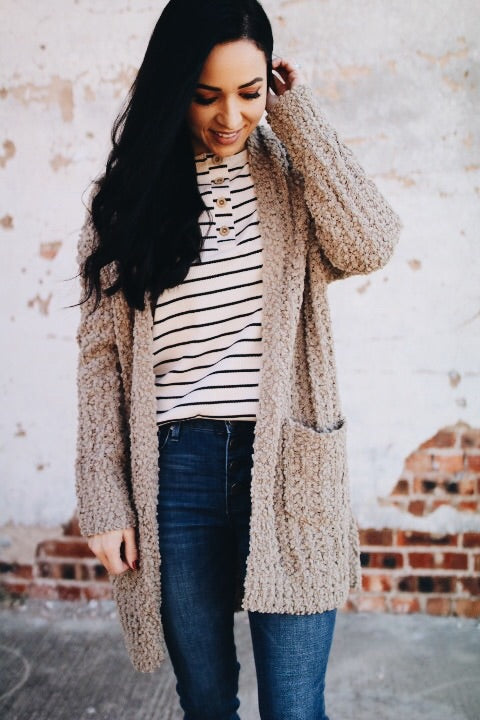 The Perry Cardigan // Mocha