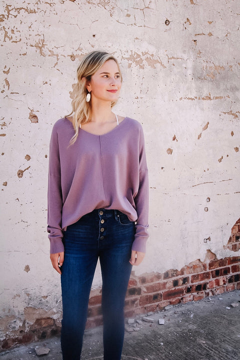 The Emily Sweater // Lavender