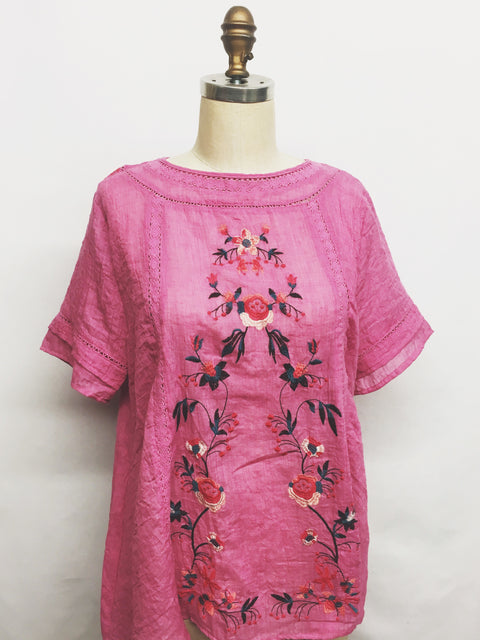 ella embroidered top
