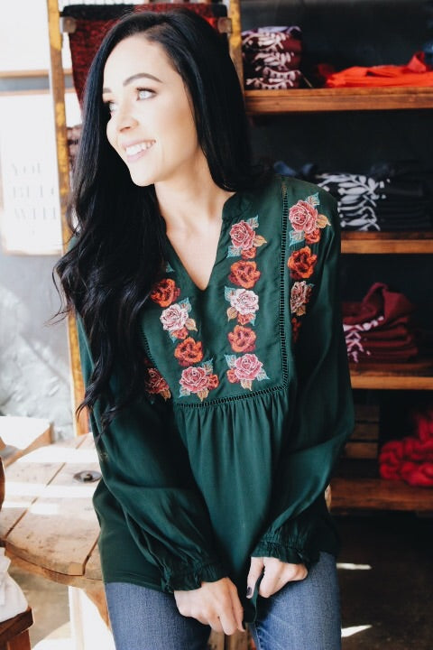 The Nellie Top // Green