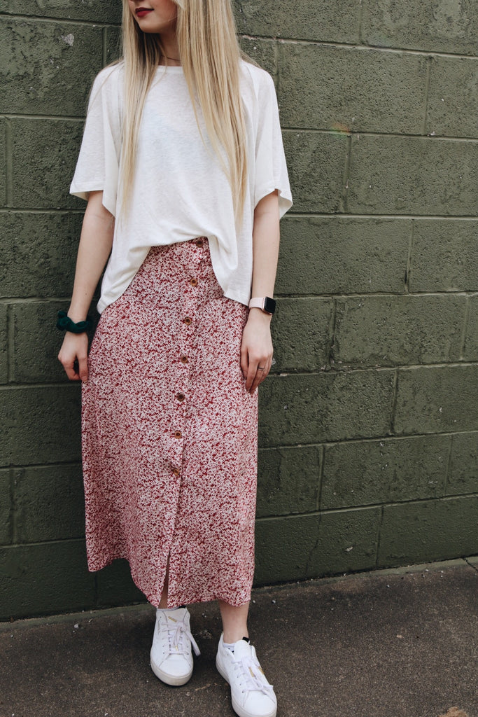 The Willow Skirt // Red