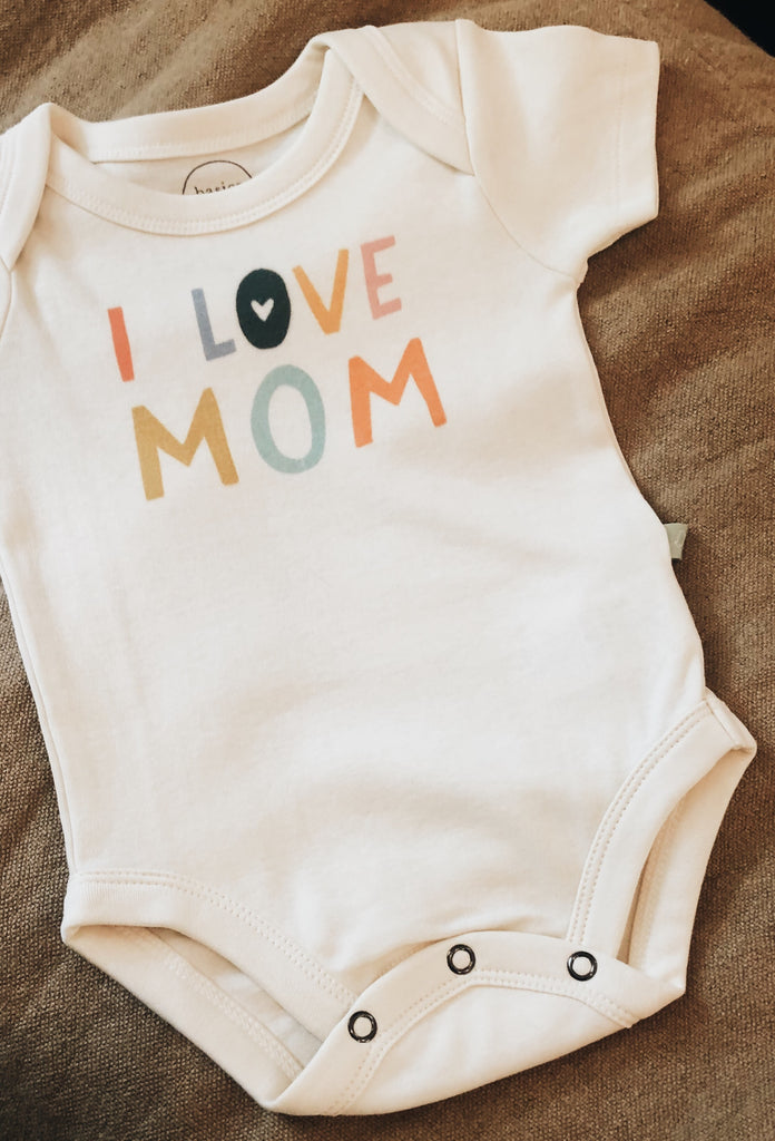 I Love Mom Onesie