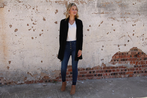 The Boyer Cardigan // Black