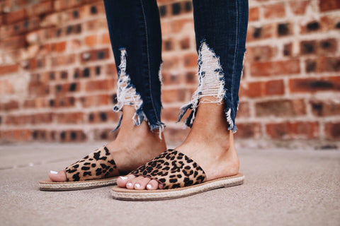 The Hunter Sandal // Leopard