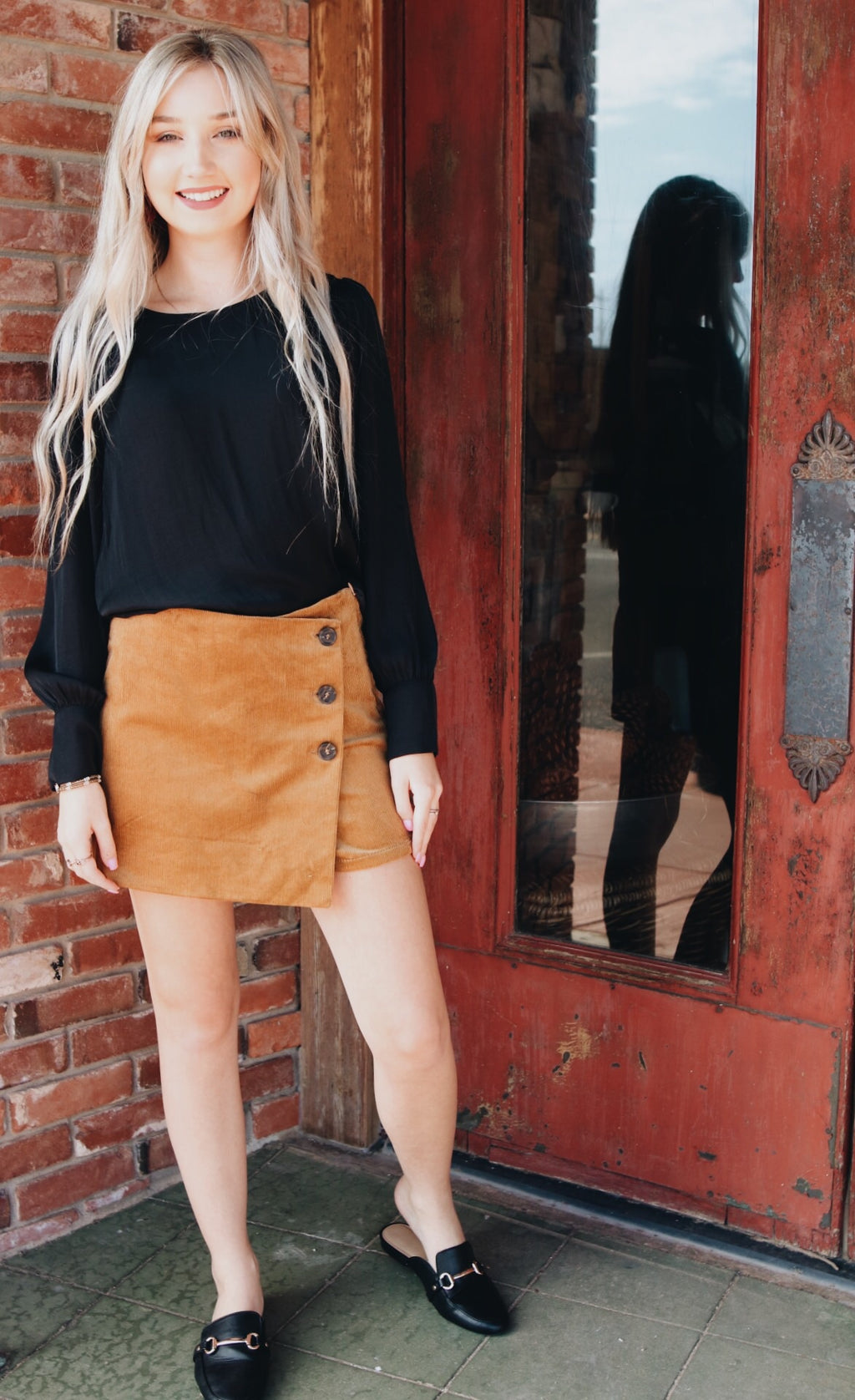 The Melli Button Skort