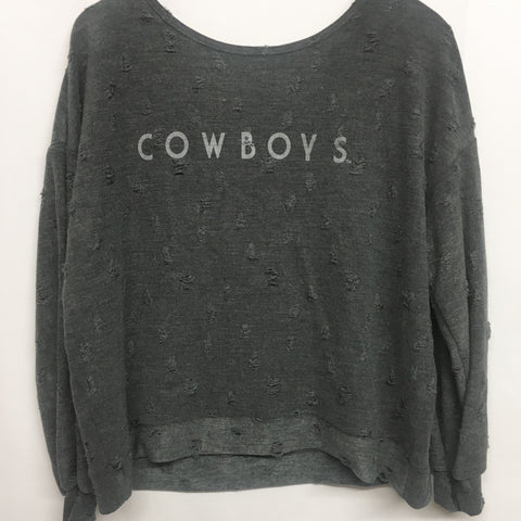 simply shredded cowboys sweatshirt