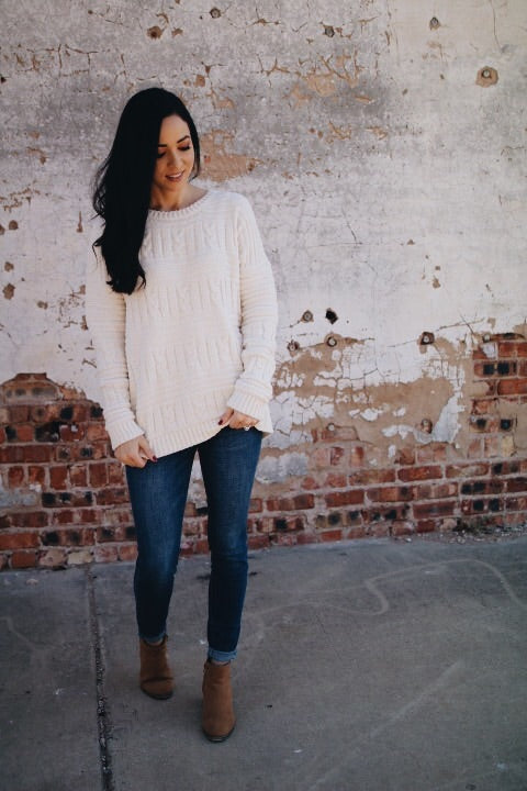 The Kristen Sweater // Cream