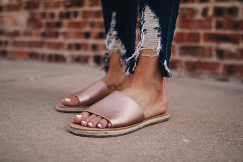 The Hunter Sandal // Rose Gold