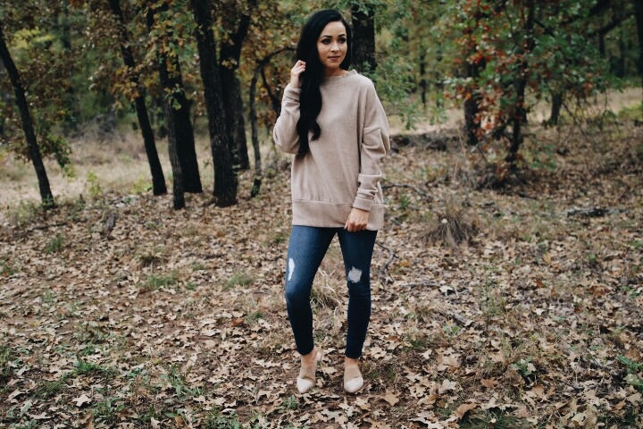 The Emmie Pullover // Taupe