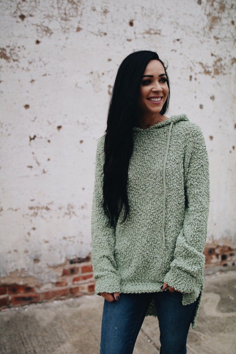 The Poppy Sweater // Sage
