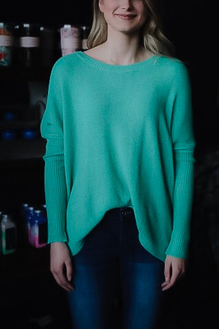 The Carlie Sweater // Green