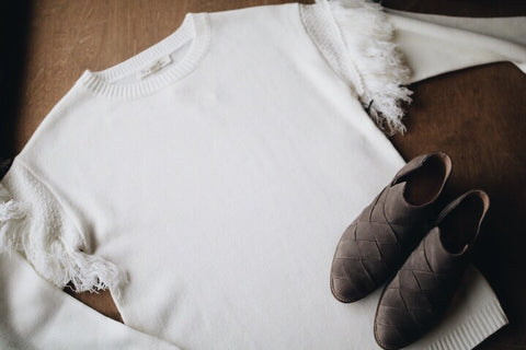 The Mailee Sweater // White