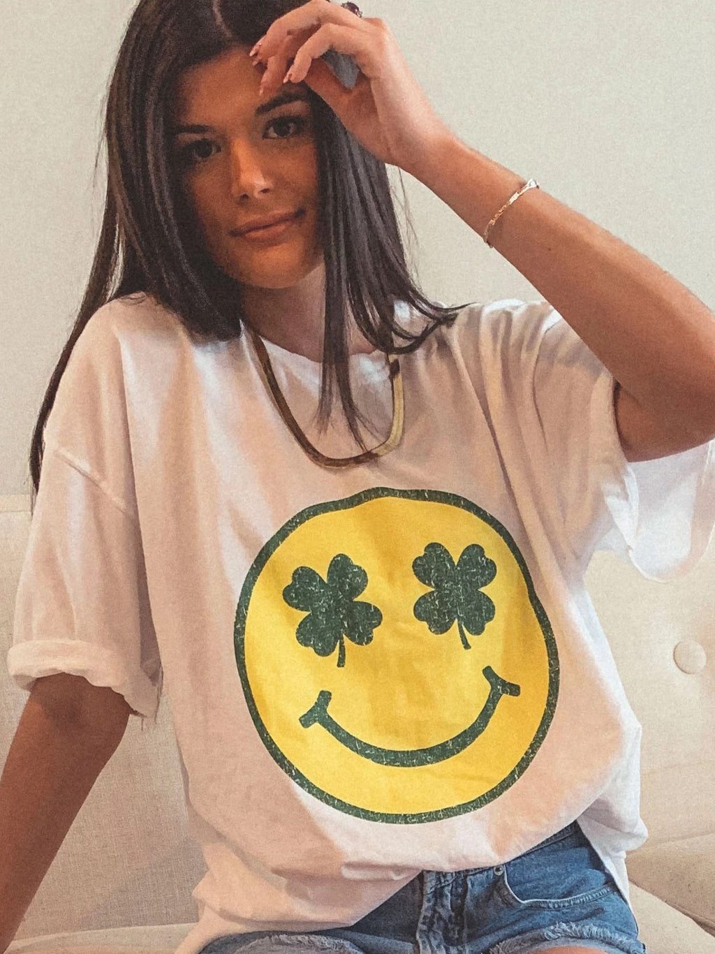 Shamrock Smiley Tee // Preorder