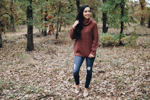 The Laura Sweater // Marsala