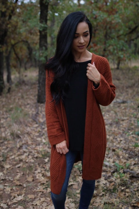 The Kendall Cardigan // Rust