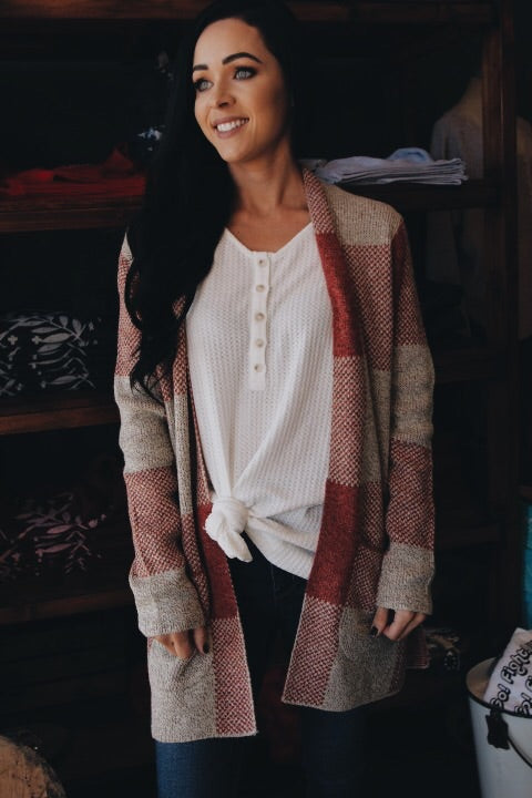 The Bonnie Cardigan // Red
