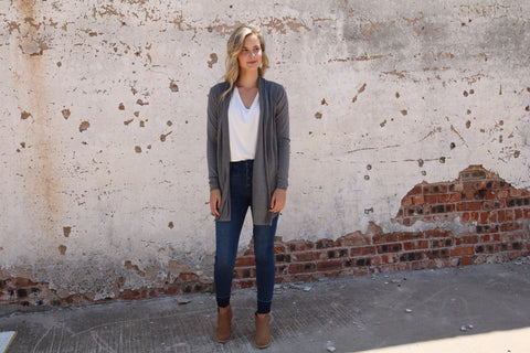 The Boyer Cardigan // Charcoal