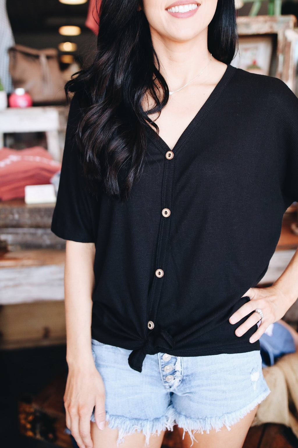 The Tia Top // Black