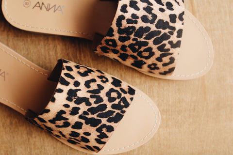The Tezza Sandal // Leopard