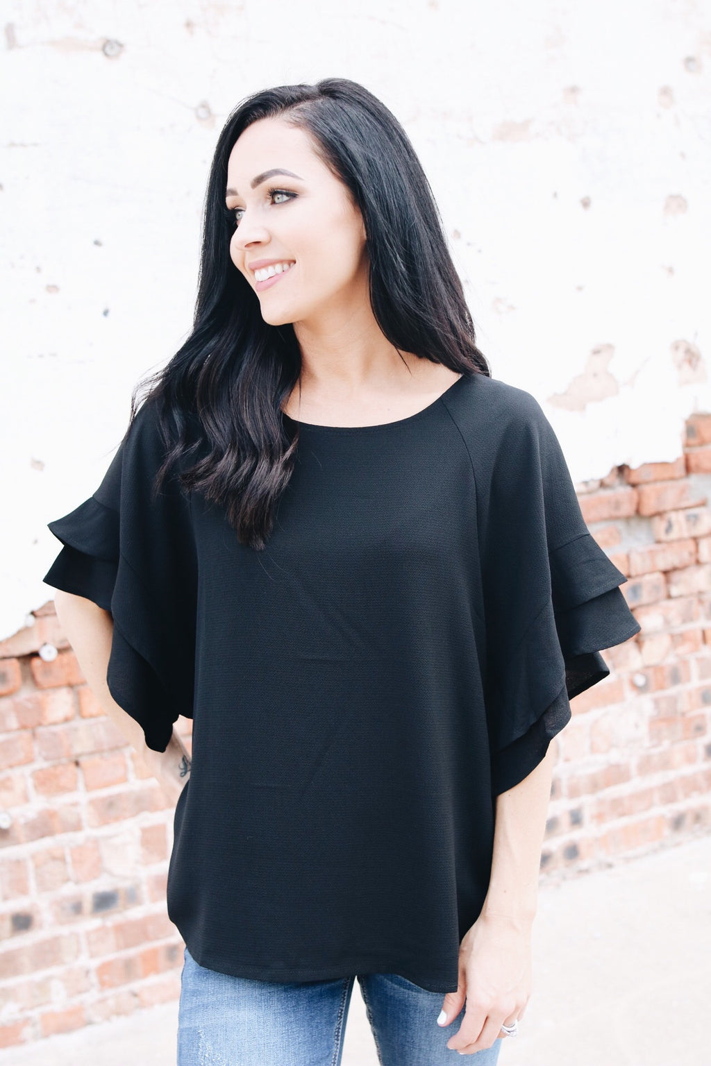 The Lyla Top // Black