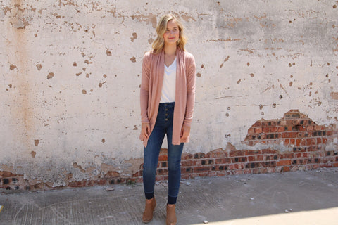 The Boyer Cardigan // Blush