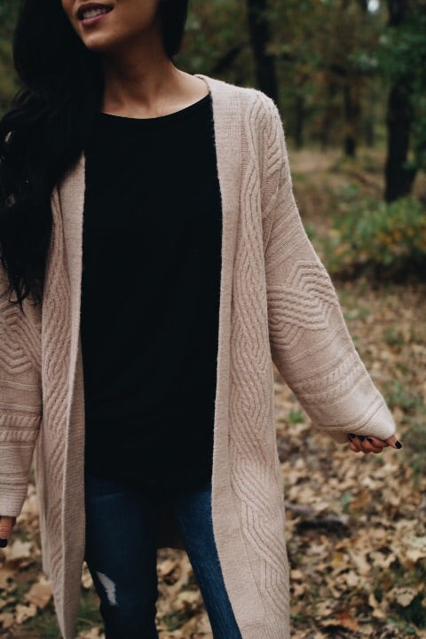 The Kendall Cardigan // Taupe