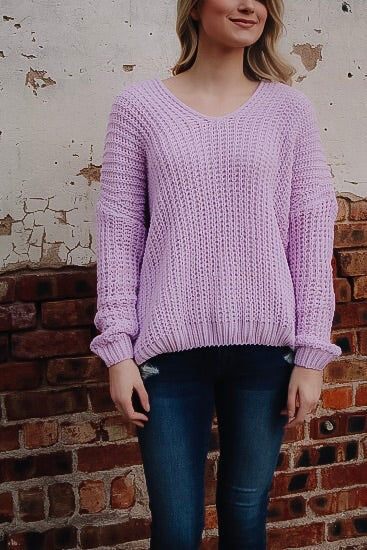 The Mila Sweater // Lavender