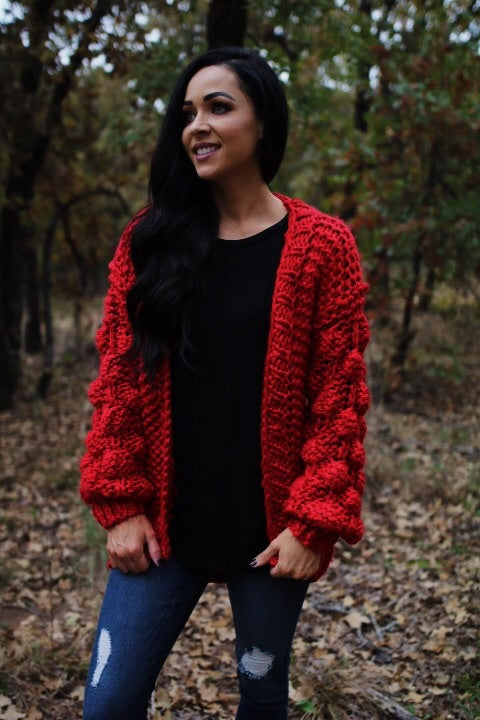The Lucca Cardigan // Red