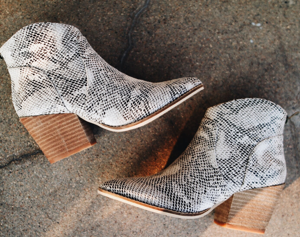 The James Bootie // Snake