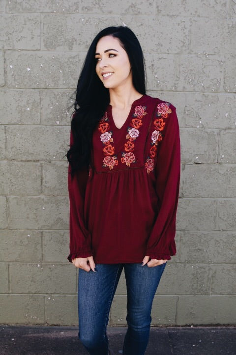 The Nellie Top // Red