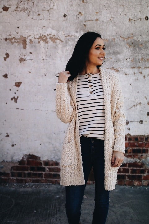 The Perry Cardigan // Cream