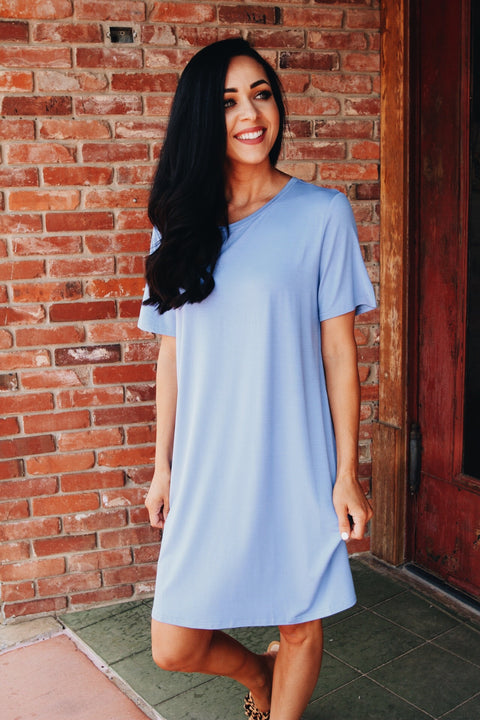 The Piko Dress // Periwinkle