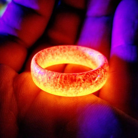 Meteorite Glow In The Dark Unisex Ring for Space Lovers