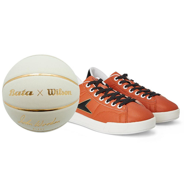 John Wooden Sneaker Low Top Wilson x Bata + Free ball