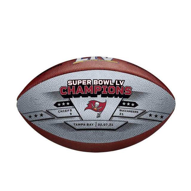 Super Bowl LV Metallic Leather Championship Ball - Tampa Bay