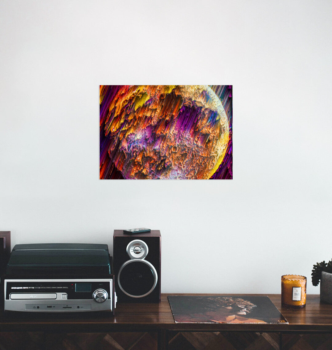 How Independent Artist Wall art looks in your living room
