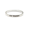 Wild Feminist - Tiny Message Ring in Sterling Silver
