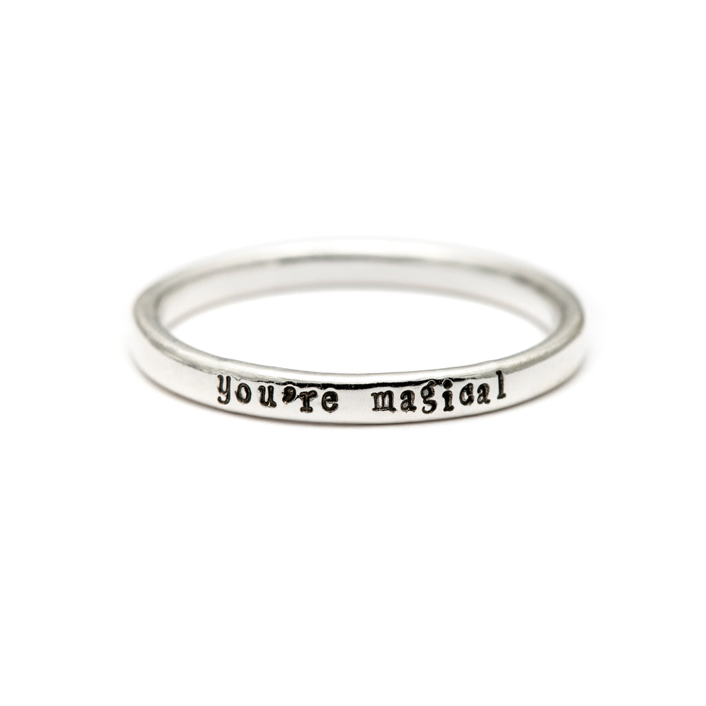 You're Magical - Tiny Message Ring in Sterling Silver