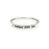 I Fucking Love You - Tiny Message Ring in Sterling Silver