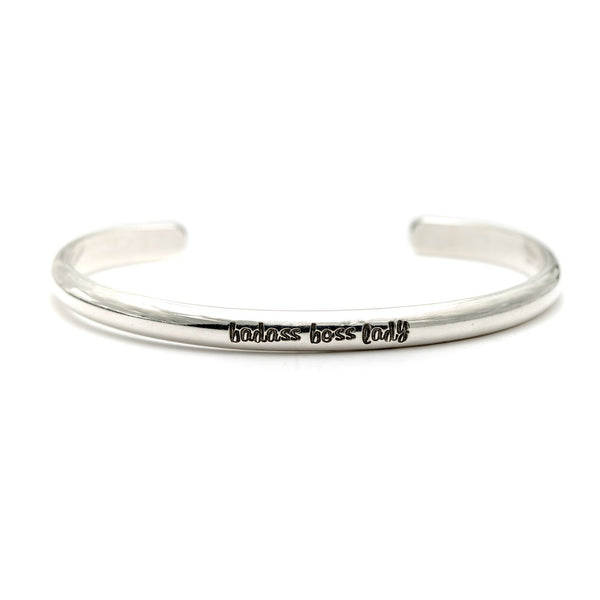 Message Cuff Bracelet in Sterling Silver