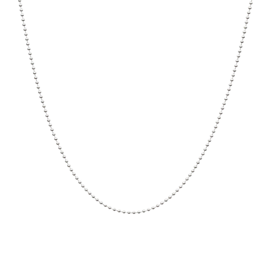 "Ball Chain Necklace - Shiny Finish in 16"", 18"", 20"" & 24"""