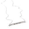 Message Horizontal Bar Necklace in Sterling Silver