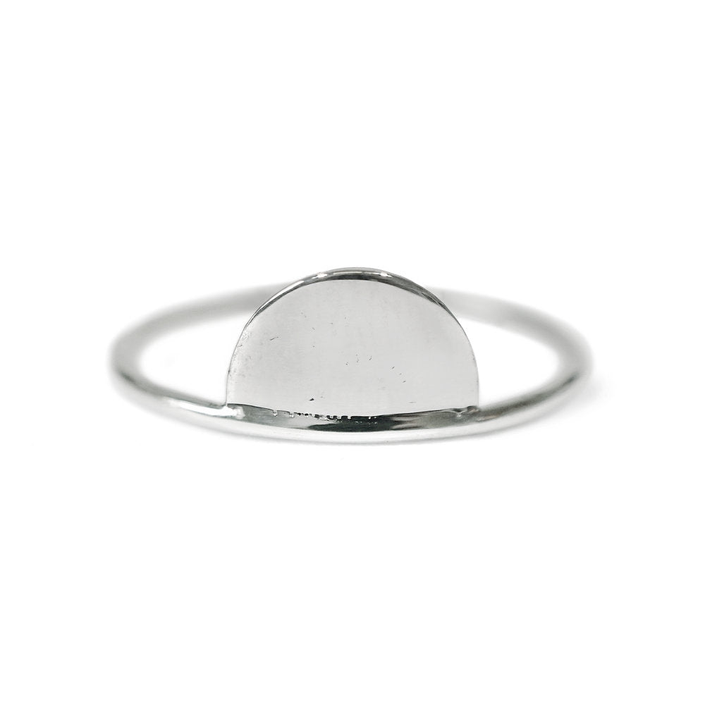 Half Moon Ring in Sterling Silver