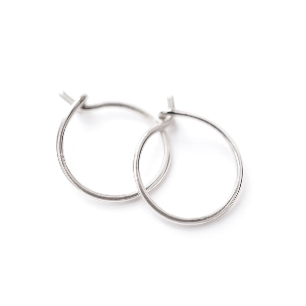 Tiny Hoop Earring Set in Sterling Silver