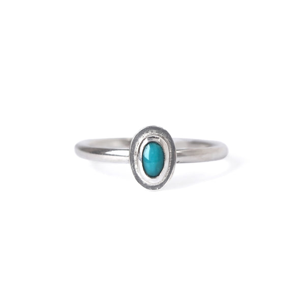 Lil' Turquoise Ring in Sterling Silver